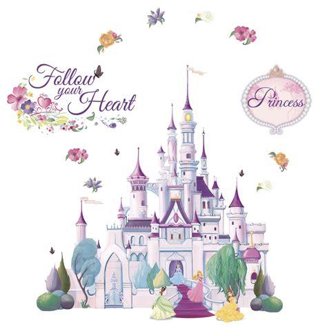stickers chambre fille princesse shop disney princess castle mini mural at lowes com