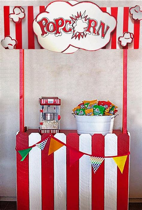 popcorn booth circus carnival concession stand