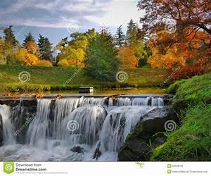 Autumn Scenery Waterfalls Park Landscape Stock Photo - Image of morning, seasonal: 34548162