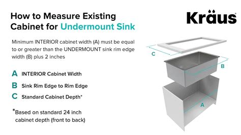 How Do You Measure A Kitchen Sink by How To Measure Kitchen Cabinet For Undermount Sink