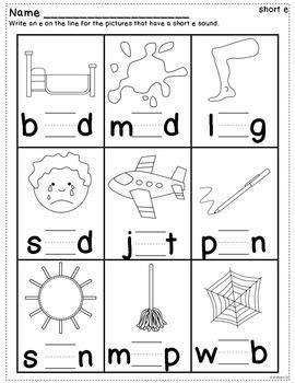 short vowel practice worksheets  images english