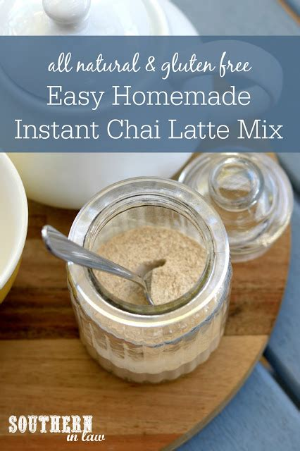There are several people who want to make a latte at home with instant coffee. Southern In Law: Recipe: DIY Chai Latte Mix