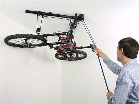 Horizontal Bike Lift Hoist Garage Bicycle Storage Pulley