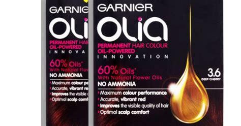 6x Garnier Olia 3.6 Deep Cherry Permanent Hair Colour Dye