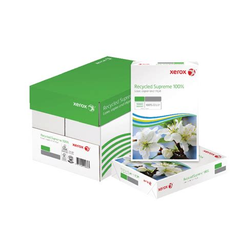 Xerox Office Supplies by Xerox Recycled A4 Paper 80gsm White 2500 Sheets