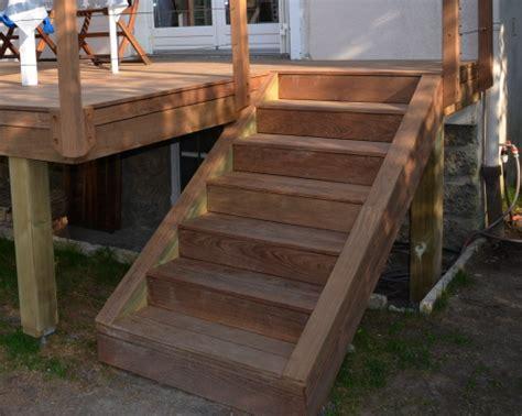 escalier en bois exotique escalier en bois exotique pour ma terrasse jardin patios