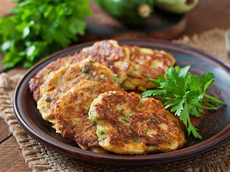 courgette and feta fritters with mint and parsley saga