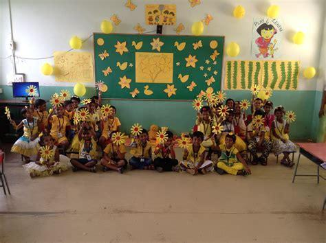 yellow color day celebration  sathyam international school