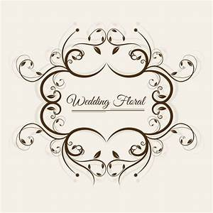 Wedding floral frame Vector   Free Download