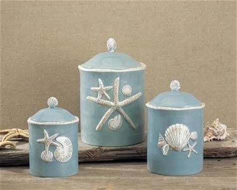 nautical kitchen accessories canister sets canisters and seashells on 1050