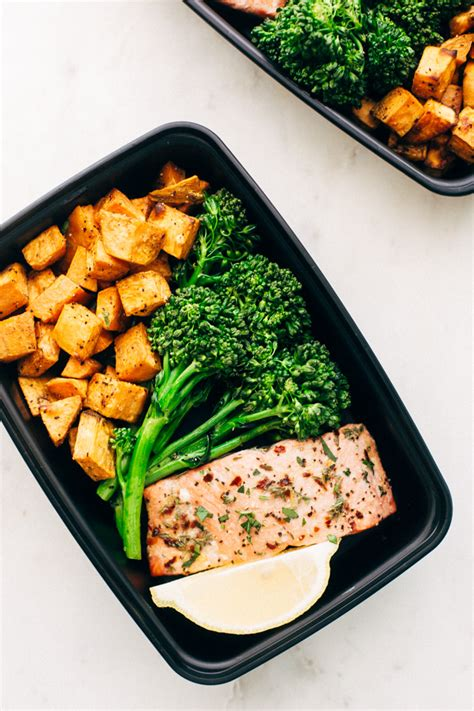 meal ideas with potatoes lemon roasted salmon with sweet potatoes recipe little spice jar