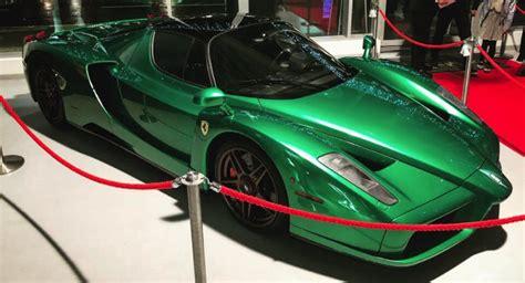 aston martin supercar ferrari enzo astonishes with its emerald green paint