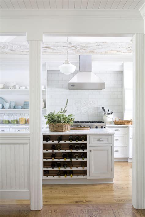 wine rack  kitchen island cottage kitchen lebey