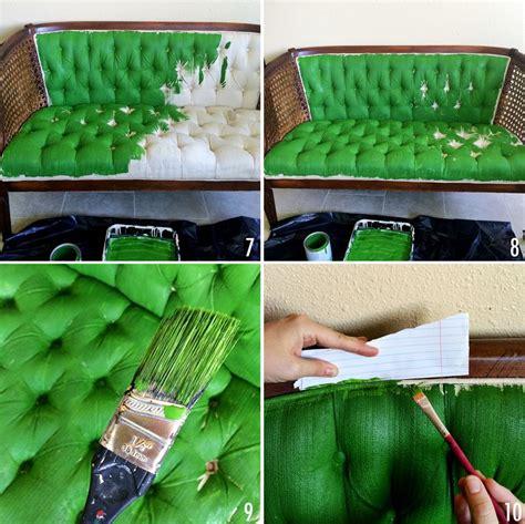 peindre un canape en tissu comment relooker un ameublement un tissu bricobistro