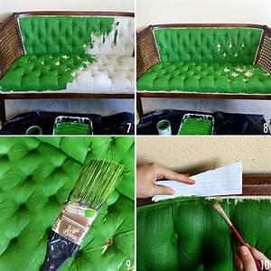 comment relooker un ameublement un tissu bricobistro With peinture pour tissus d ameublement