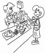 Coloring Grocery Pages Store Cashier Supermarket Fruits Jobs Pokemon Children Fruit Popular Enregistree Doghousemusic Coloringpagesfortoddlers Depuis sketch template
