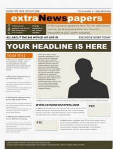 wonderful free templates to create newspapers for your With microsoft powerpoint newspaper template