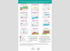 Consulta el Calendario Escolar para el Ciclo Escolar 2018