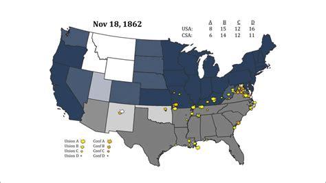 civil war battle map timeline youtube