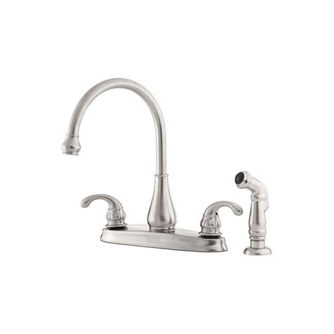 standard kitchen faucet leaking pfister treviso 2 handle standard kitchen faucet with side