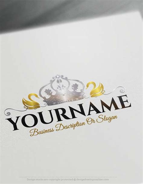 create  logo  swan crown logo design
