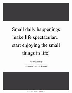 Small daily hap... Life Spectacular Quotes