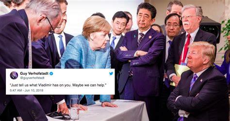 eu leaders mock trump  botched  summit  pictures