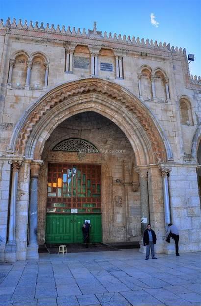 Mosque Aqsa Jerusalem Entrance Biblewalks North Shown
