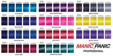 manic panic color chart manic panic professional all you need to manic