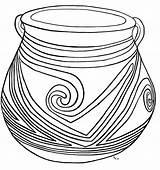 Coloring Pot Casas Pottery Grandes Mexico sketch template