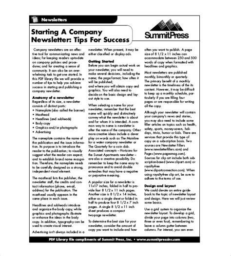 word newsletter template   printable microsoft
