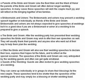 Standard wedding speech order 2019-06-01 08:53