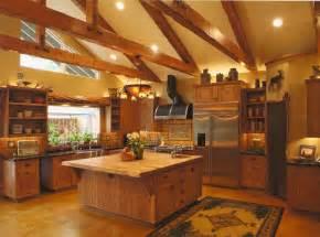 pics photos luxury cabin kitchen modern 7 log home