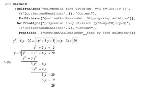 Formatting Results Of A Polynomial Long Division  Mathematica Stack Exchange