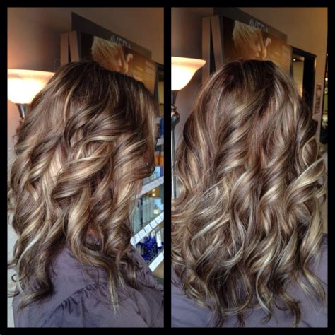 highlights lowlights chocolate  caramel curls amber