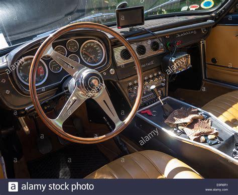 maserati sports car interior interior of a classic maserati sebring sports car with