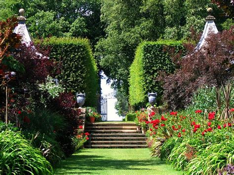 The Famous Red Border At Hidcote In The