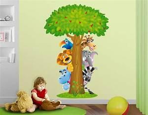Wandtattoo Tiere Kinderzimmer : wandtattoo dschungeltiere kinder zimmer tiere tierbaum ~ Watch28wear.com Haus und Dekorationen