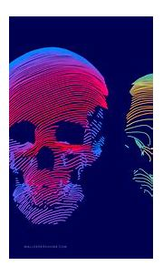 Wallpaper abstract, 3D, colorful, skull, 8k, OS #21287