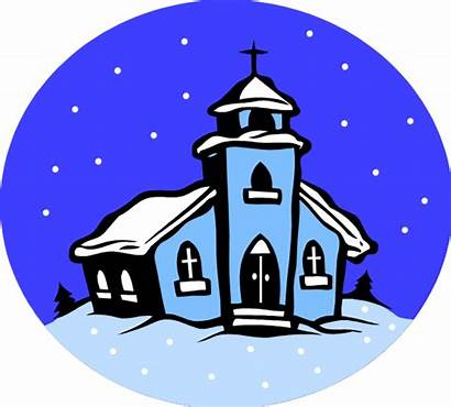 Winter Church Clipart Clip Weather Snowy Cancellations