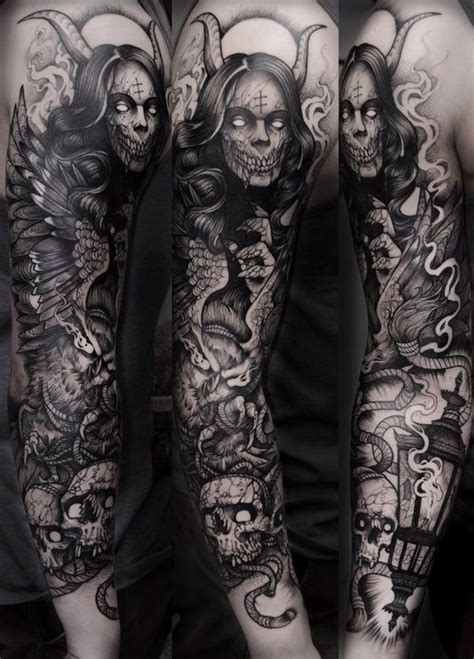 awesome examples  full sleeve tattoo ideas dvrkness