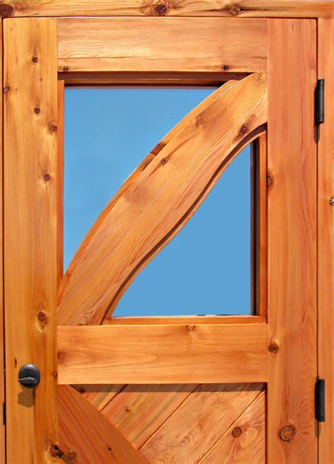 Cross Buck Door   Custom Wood Doors for Cabins Lodges
