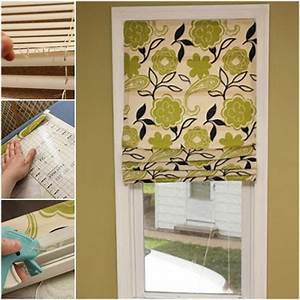 easy diy no sew roman shades out of mini blinds diy With are roman shades out of style