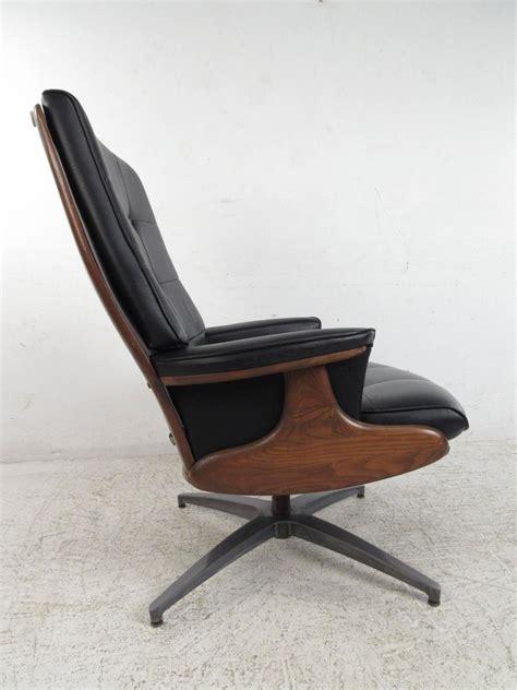 heywood wakefield chair and ottoman heywood wakefield swivel lounge chair with ottoman at 1stdibs