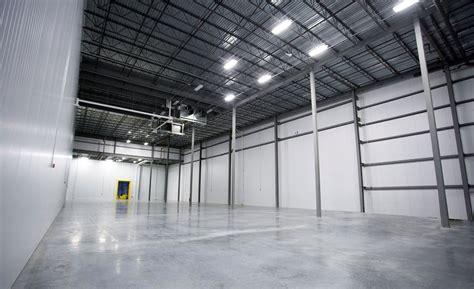 refrigerated warehousing  green    walls