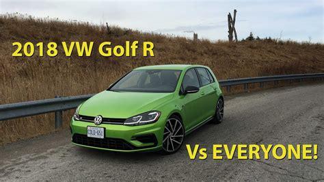 Gti Vs Golf R Engine by Hatch Shootout 2018 Golf Gti Vs Golf R Vs Civic Type