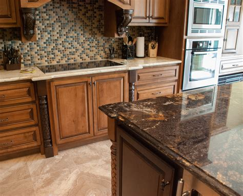kitchen island countertop contrasting island and countertops granite kitchen