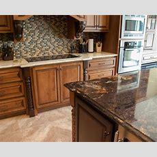 Contrasting Island And Main Countertops Granite Kitchen