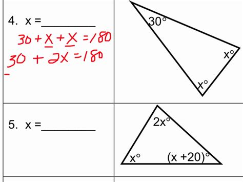 Triangle Sum Theorem Worksheet Algebra Livinghealthybulletin
