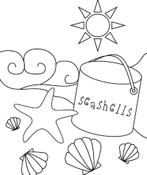 printable beach coloring pages mm